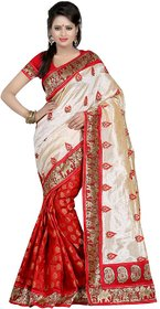 Aaradhya Fashion Multicolor Linen Printed Saree With Blouse