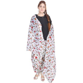 Shop Rajasthan Cotton Floral Print Multicolor Patiala Salwar With Dupatta