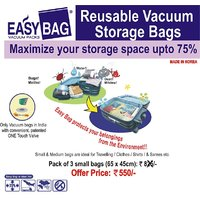 Vacuum Storage Space Bags - Set Of 3 Small Bags