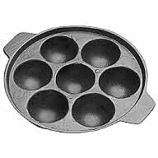 ISI Non-Stick Aluminium 7 Cavity Cookware Appam Patra Maker