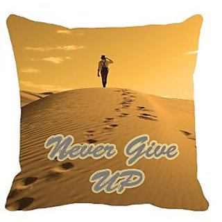 meSleep Never Give Up 3D Cushion Cover (20x20)