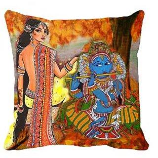 meSleep Krishna Girl 3D Cushion Cover (20x20)