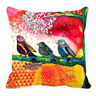 meSleep Three Bird 3D 20x20 inch Cushion Cover