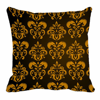 meSleep Traditional Brown 3D 20x20 inch Cushion Cover