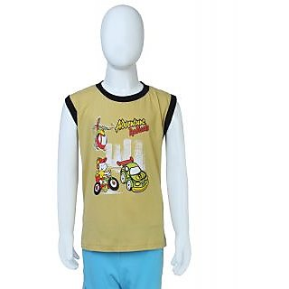 Toons Kids Lime Green Round Neck T-Shirt