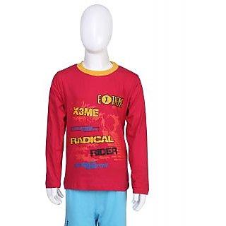 Toons Kids Red Round Neck T-Shirt