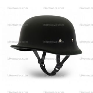 Bike/Motorcycle Vega German Dull Black Helmet