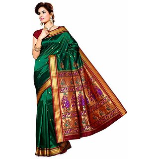Banarsi Green Silk Saree