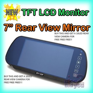 7 Car TFT LCD Rear View Mirror Monitor USB SD CARD  Parking Backup Camera Pack