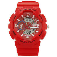 Liverpool Red Fixed Bezel Sports Wrist Watch Champion (RED)