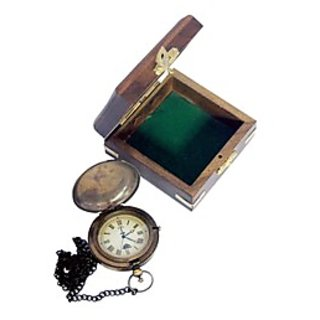 Thw Poket Watch Royal Navy London 1915 With Lid & Wooden Box