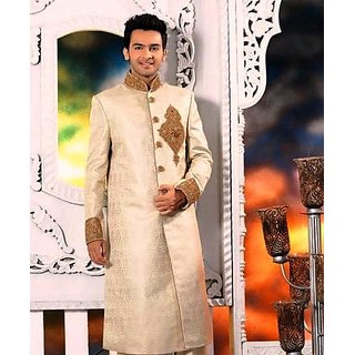 fashionable golden sherwani