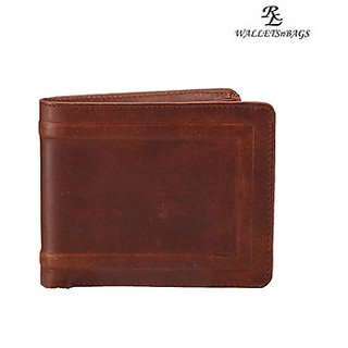 Oillpullup Mens Wallet -Tan (W 5 - TN) (Synthetic leather/Rexine)