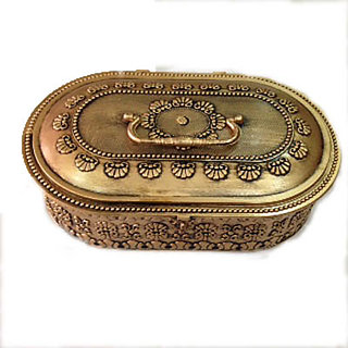 Oval Copper Plastic Jewellery Box For Jewellery Storage And Room Dcor