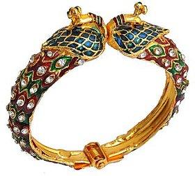 The Pari Peacock Multi-Colour Designer Alloy Bangle