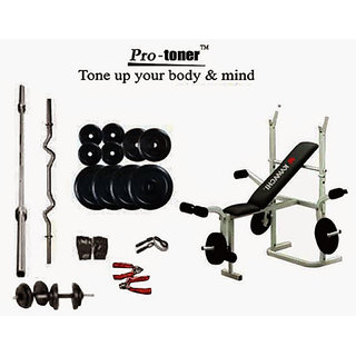 Protoner Weight Lifting Package 88 Kgs + 5