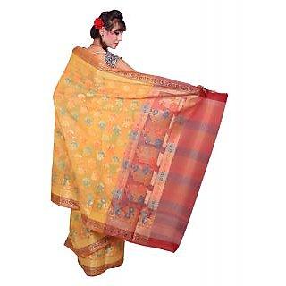 Pleasing Banarasi Yellow Katan Silk Sarees Exclusive For Women