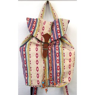 The House of Tara Multicolor Handwoven Backpack Bag - HTBP 09