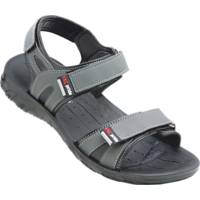 Vkc Men's Gray Velcro Sandals