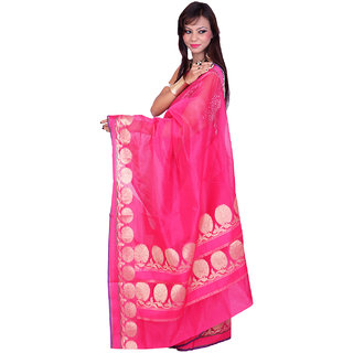 Smart Banarasi Red Cotton Silk Sarees Exclusive For Women