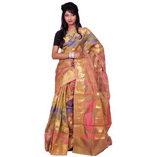 Beauteous Banarasi Mustard Silk Sarees Exclusive For Women