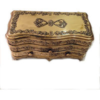 Copper Plastic 2  Sections  Jewellery Box For Jewellery Storage And Room Dcor