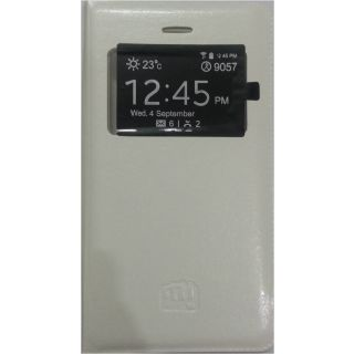 RIE S View PU Leather Flip Cover for Micromax Bolt A47  White  USB OTG cable available at ShopClues for Rs.225