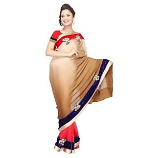 Vismit Georgette, Raw Silk Sarees Exclusive For Beautiful Women In Multicolor