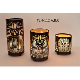 Egyptian Face Candle Holder
