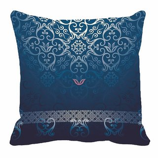 Blue pattern Digitally Printed Cushion Cover