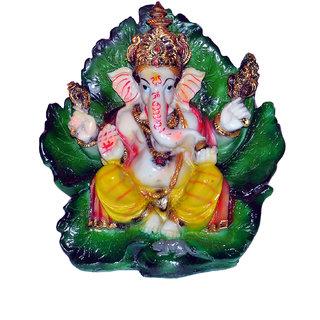 Vaah Resin Green Patta Ganesh