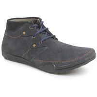 Foot N Style Men's Blue Lace-Up Boots