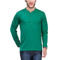 Tsx Men's Green Round Neck T-Shirt