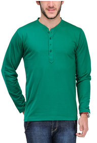 Tsx Men's Green Round Neck T-Shirt