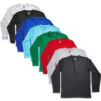 TSX Men's Multicolor Round Neck T-Shirt (Pack of 8)