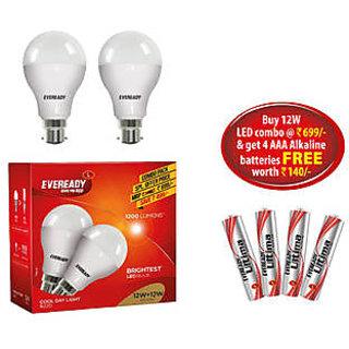 Eveready 12 Watt Cool Day Light LED Bulb - Pack Of 2