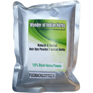 Natural Herbal Black Henna Powder 200 G Without Chemical