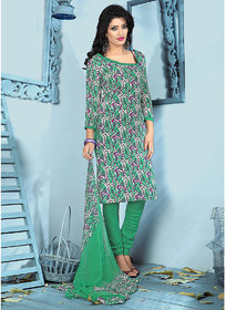 Swaron Brown Georgette Lace Salwar Suit Dress Material (Unstitched)