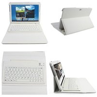 Bluetooth Keyboard  Leather Case Cover For Samsung Gala