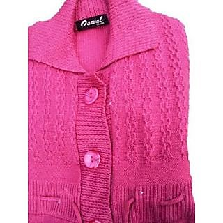 77c4a6cf64f3 Oswal Women Cardigan Pink Prices in India- Shopclues- Online ...