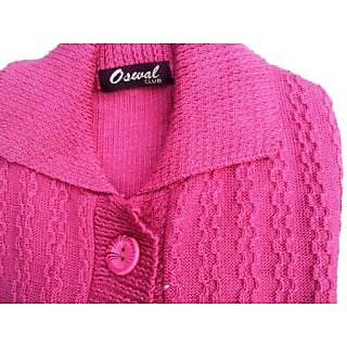 b9590aec69 Oswal Women Cardigan Pink Prices in India- Shopclues- Online ...