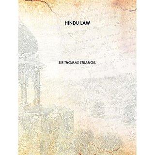 HINDU LAW Vol: 1 1830 [Harcover]