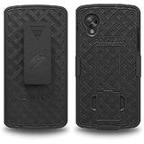 Amzer 96305 Shellster Kickstand - Black For Google Nexus 5 D820, LG Nexus 5 D820