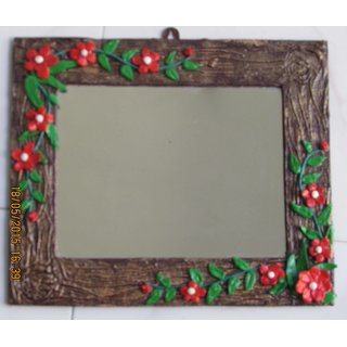 Handmade flower mirror