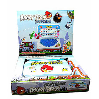 Angry Bird Battery Operated Toy Laptop For Kids English Numeric Learner Notebook