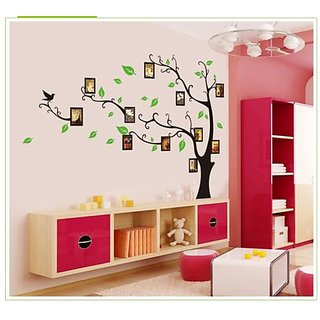 Asmi Collection Pvc Family Photo Tre Wall Sticker (24X35 Inch)
