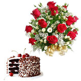 Buy Special Gifts Of Roses And Cake