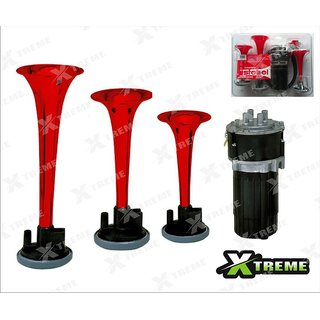 XTREME-in Origial Stebel Brand 3 Pipe Air Horn (Italian Make) FOR TVS  Apache RTR 150