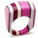 IDD's Funky Pink And White Resin Ring