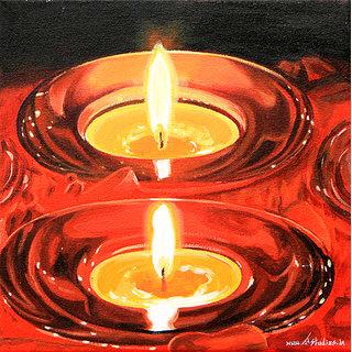 Handmade Painting-Diyas
